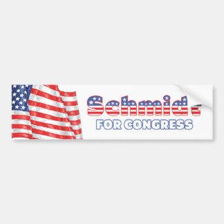 Schmidt voor de Patriottische Amerikaanse Vlag van Bumpersticker