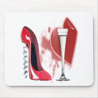 Schoen, Champagne en het Hart van de Stiletto van  Muismat