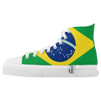 Schoenen van de Vlag van Brazilië de Hoge Hoogste