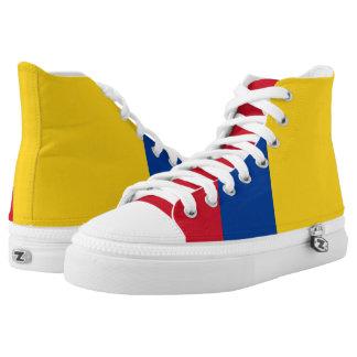 Schoenen van de Vlag van Colombia de Hoge Hoogste