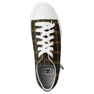 Schoenen van het Geruite Schotse wollen stof van