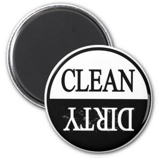 Schone vuil-zwarte ronde afwasmachinemagneet koelkast magneten