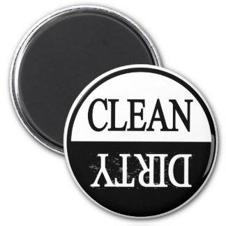 Schone vuil-zwarte ronde afwasmachinemagneet ronde magneet 5,7 cm