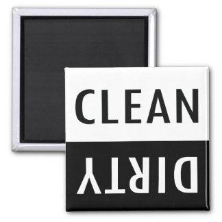 Schone vuile afwasmachinemagneet koelkast magneet