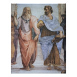 School van Athene (detail - Plato & Aristoteles) Poster