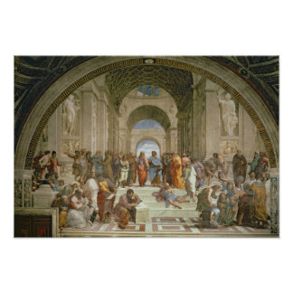 School van Athene, van della van de Stanza Poster