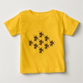 School van Gelukkige Vissen Baby T Shirts