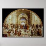 """School van Raphael de """"van Athene"""" (circa 1511) Poster"""