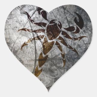 Schorpioen Hartvormige Stickers