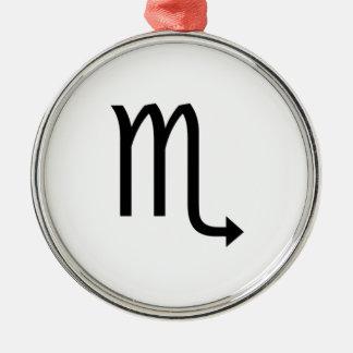 Schorpioen Zilverkleurig Rond Ornament