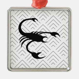 Schorpioen Zilverkleurig Vierkant Ornament