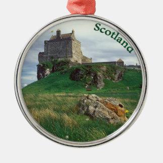 Schotland Zilverkleurig Rond Ornament
