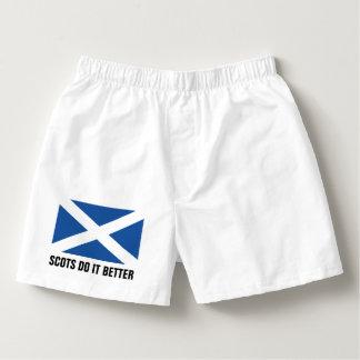Schots de borrelsondergoed van de vlagbokser voor