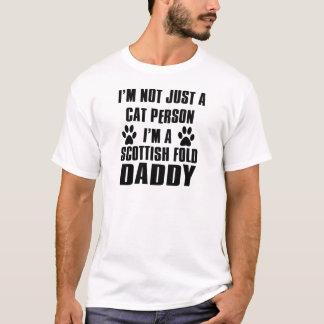 Schots het rassenontwerp van de Kat van Vouwen T Shirt