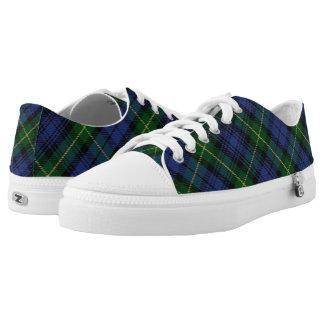 Schots Huis van het Geruite Schotse wollen stof Low Top Schoenen