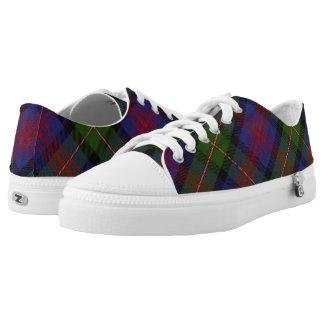 Schots Logan van de Clan Geruite Schotse wollen Low Top Schoenen