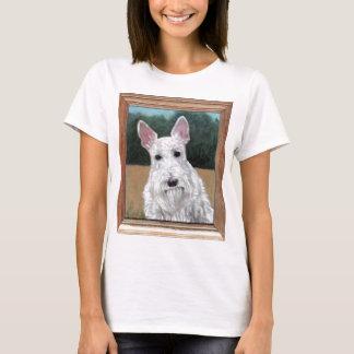 Schots Terrier die Overhemden schilderen T Shirt