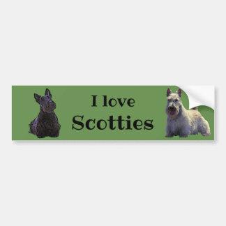 Schots Terrier, houd van ik, wheaten/zwarte Bumpersticker