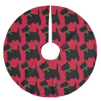 Schots Terrier met het Patroon van de Hond van de Kerstboom Rok