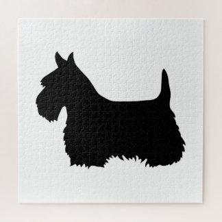 Schots zwart sihouetteheart/676 stuk van Terrier Legpuzzel
