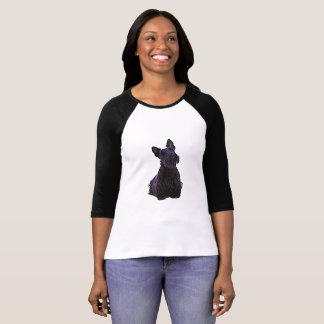 Schots zwart/wheaten Terrier, het zitten T Shirt