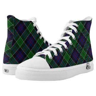 Schotse Clan Leslie Hunting Tartan High Top Schoenen