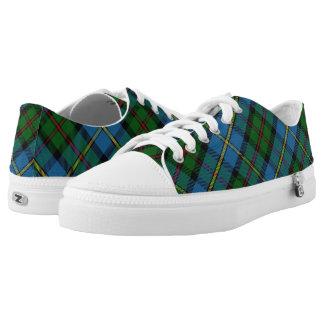 Schotse Clan MacLeod van Geruite Schotse wollen Low Top Schoenen