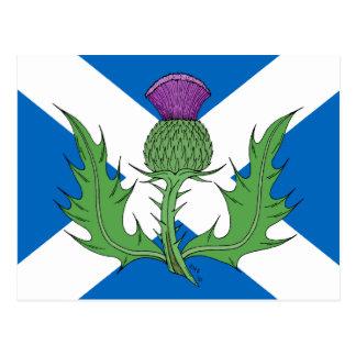 Schotse Distel en Saltire Briefkaart