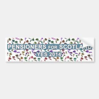 Schotse Gepensioneerden voor de Sticker van de Ona