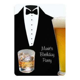 Schotse het Bier van de Partij van de Verjaardag 12,7x17,8 Uitnodiging Kaart