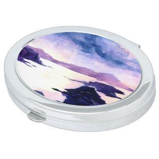 Schotse LochWatercolour die Compacte Spiegel Makeup Spiegel