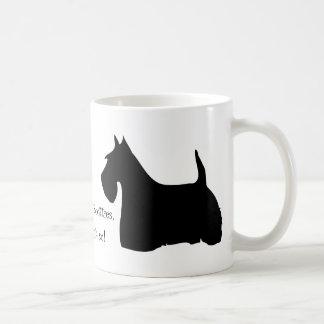 Schotse van het de hond zwarte silhouet van koffiemok