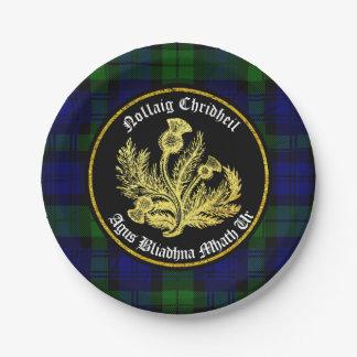 Schotse Vrolijke Kerstmis en Gelukkig Nieuwjaar Papieren Bordjes