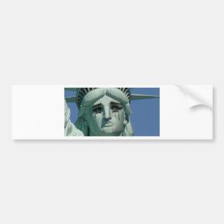 Schreeuwend Standbeeld van Vrijheid Bumpersticker