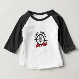 schreeuwwolf met weerhaken nr baby t shirts