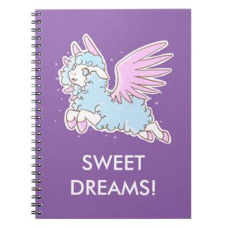 Schrift Schaap van de dromen kawaii Notitieboek
