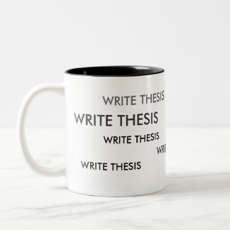 Schrijf de Mok van de Herinnering van de Thesis