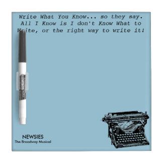 Schrijf Wat weet u droog-wis Raad Dry Erase Whiteboard