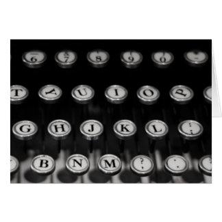 """""""schrijfmachine"""" door Larry Coressel Kaart"""