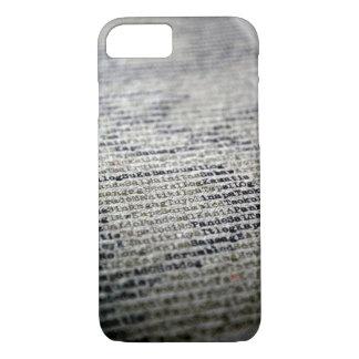 Schrijfmachine en Woorden iPhone 8/7 Hoesje
