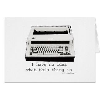 Schrijfmachine Huh? Briefkaarten 0