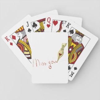 Schrijvende Misser You Speelkaarten