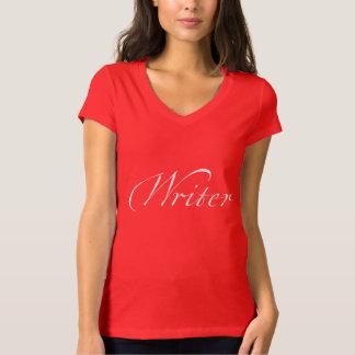 Schrijver (wit dat van letters voorziet) t shirt