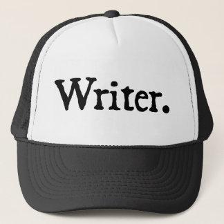 Schrijver (zwarte die van letters voorzien) trucker pet