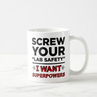 Schroef Uw Veiligheid van het Laboratorium, wil ik Koffiemok