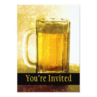 Schuimende Mok Bier 12,7x17,8 Uitnodiging Kaart