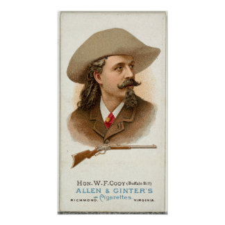 Schutter 1887 van het Geweer van Buffalo Bill Poster