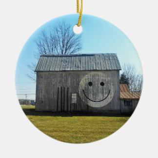 Schuur van het Gezicht Smiley van het ornament de