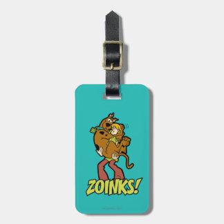 Scooby-Doo en Ruwharige Zoinks! Kofferlabel