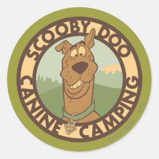 """Scooby Doo """"het Honds Kamperen """" Ronde Sticker"""